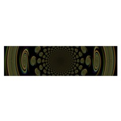 Dark Portal Fractal Esque Background Satin Scarf (Oblong)