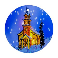 Winter Church Ornament (round)