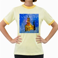 Winter Church Women s Fitted Ringer T Shirts