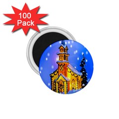 Winter Church 1.75  Magnets (100 pack)