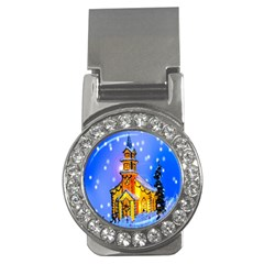 Winter Church Money Clips (cz)