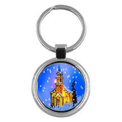 Winter Church Key Chains (round)