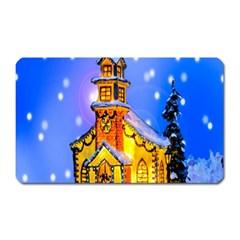 Winter Church Magnet (rectangular)