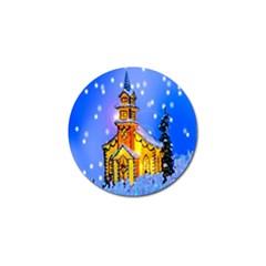 Winter Church Golf Ball Marker