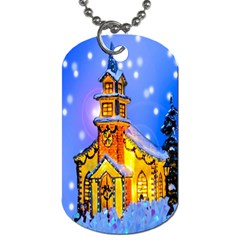Winter Church Dog Tag (two Sides)