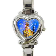 Winter Church Heart Italian Charm Watch
