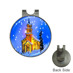 Winter Church Hat Clips With Golf Markers