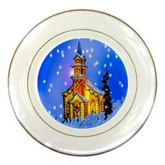 Winter Church Porcelain Plates