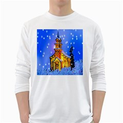 Winter Church White Long Sleeve T Shirts
