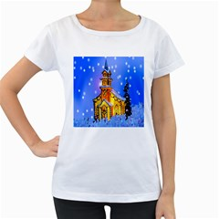 Winter Church Women s Loose Fit T Shirt (white)