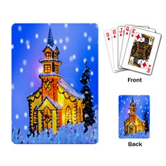 Winter Church Playing Card