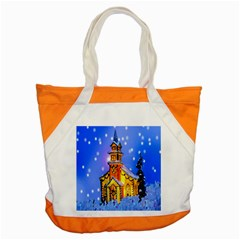 Winter Church Accent Tote Bag