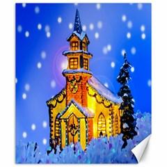 Winter Church Canvas 20  x 24