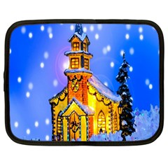 Winter Church Netbook Case (large)