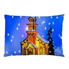 Winter Church Pillow Case