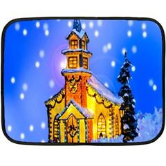 Winter Church Double Sided Fleece Blanket (mini)