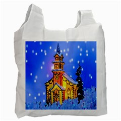 Winter Church Recycle Bag (Two Side)