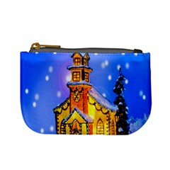 Winter Church Mini Coin Purses