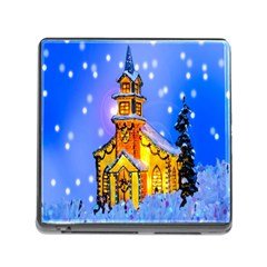 Winter Church Memory Card Reader (Square)