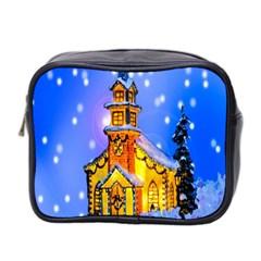 Winter Church Mini Toiletries Bag 2-Side
