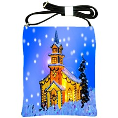 Winter Church Shoulder Sling Bags