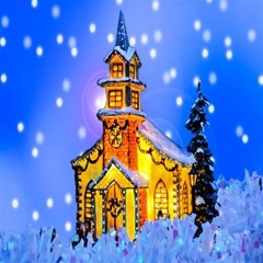 Winter Church Magic Photo Cubes