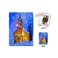 Winter Church Playing Cards (Mini)