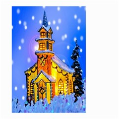 Winter Church Small Garden Flag (two Sides)
