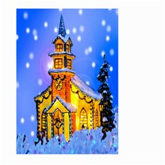 Winter Church Large Garden Flag (Two Sides)
