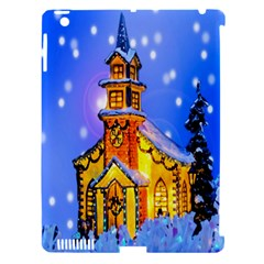 Winter Church Apple Ipad 3/4 Hardshell Case (compatible With Smart Cover)