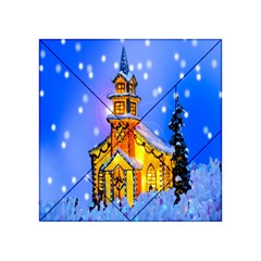 Winter Church Acrylic Tangram Puzzle (4  x 4 )