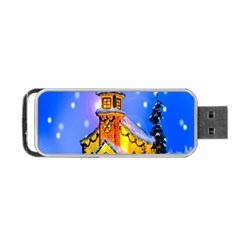 Winter Church Portable Usb Flash (one Side)