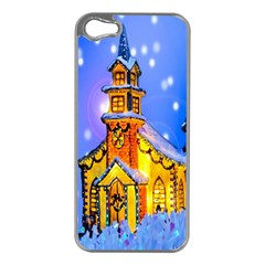 Winter Church Apple iPhone 5 Case (Silver)