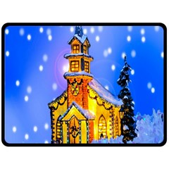 Winter Church Double Sided Fleece Blanket (Large)