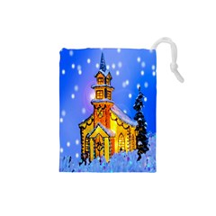 Winter Church Drawstring Pouches (Small)