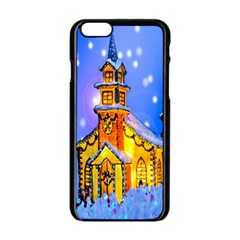 Winter Church Apple iPhone 6/6S Black Enamel Case