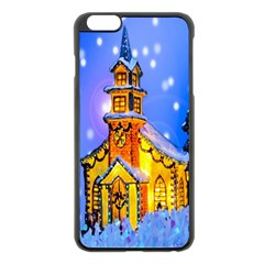 Winter Church Apple iPhone 6 Plus/6S Plus Black Enamel Case