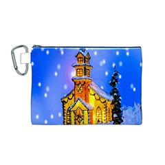 Winter Church Canvas Cosmetic Bag (M)