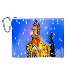 Winter Church Canvas Cosmetic Bag (l)