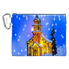 Winter Church Canvas Cosmetic Bag (xxl)