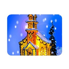 Winter Church Double Sided Flano Blanket (Mini)