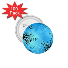Blue Night Portrait Background 1 75  Buttons (100 Pack)