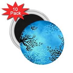 Blue Night Portrait Background 2.25  Magnets (10 pack)