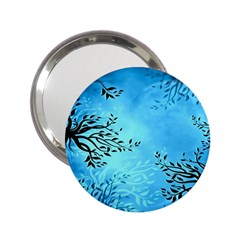 Blue Night Portrait Background 2.25  Handbag Mirrors