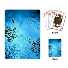 Blue Night Portrait Background Playing Card