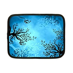 Blue Night Portrait Background Netbook Case (small)
