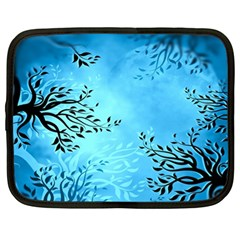 Blue Night Portrait Background Netbook Case (XL)