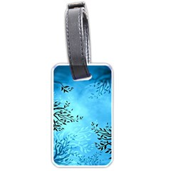 Blue Night Portrait Background Luggage Tags (One Side)