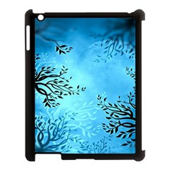 Blue Night Portrait Background Apple iPad 3/4 Case (Black)