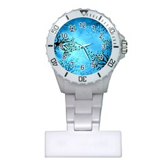 Blue Night Portrait Background Plastic Nurses Watch